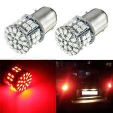 2 x 1157 BAY15D SMD 50 LED Car Red Car Tail Stop Brake Light LED Bulb 12V Red