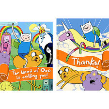 ADVENTURE TIME Party Invitations and Thank You Cards Combo Pack New 8 each/packl