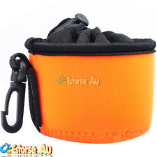 Neoprene Soft Camera Lens Protect Case Bag Cover Pouch For Sony DSC-QX10 Orange
