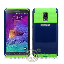 Samsung Galaxy Note 4 Hybrid 2 Tone Case Blue/Green Cover Shell Protector Guard