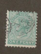 South Australia 57 - Queen Victoria 1 Penny. Used.   #02 SOAUS57b