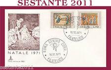 ITALIA FDC CAPITOLIUM 180 NATALE 1971  ANNULLO ROMA H70