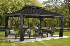 Sojag Messina 12 x 20 Galvanized-Steel-Roof Sun Shelter Mosquito Netting