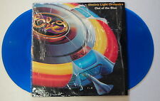 ELO Out Of The Blue 1977 US ORG Blue Vinyl LP + Spaceship MODEL + POSTER Minty!