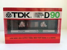 TDK D 90 BLANK AUDIO CASSETTE TAPE NEW RARE 1985 YEAR USA MADE KIND #2