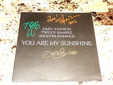 "Jamey Johnson Shooter Jennings Twiggy Ramirez RARE Signed 12"" Record Sunshine"