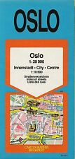 Cartographia Rapid Transit Road Map OSLO Norway Metro Railroads Churches Museums