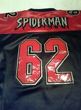 Spiderman Football Jersey  MARVEL COMICS 2001 Embroidered Sports M - XL 62 gift