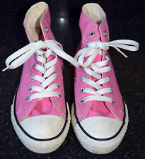 Converse Chuck Taylor Girls Sneakers Shoes Pink High Hi Tops Size 2 gm