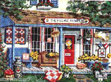 Dimensions VILLAGE PEDDLER QUILTS BASKETS FLOWERS COUNTRY STORE  Needlepoint Kit