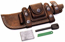 CFK Custom Handmade RIGHT Horizontal LARGE Knife Sheath WET STONE & FIRE STARTER