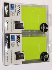 One Sony Universal 5000 mAh Portable Mobile Power Bank with Cables