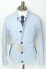 New BRIONI Italy Light Blue Cotton Twill Zip & 5Btn Jacket Coat 50 M L NWT $3K