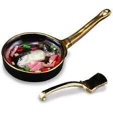 Reutter Porzellan Pan de pescado/Peces Fry Set 1:12 Casa de muñecas Dollhouse