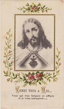 """IMAGE PIEUSE/HOLY CARD SANTINI/COEUR SACRE DE JESUS""""Venez tous à Moi"""" EGLANTINES"""
