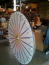 6' Floor Stand Carnival Spin to Win Prize Wheel / 20 White Dry Erase Pies