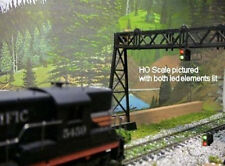 10 RED & GREEN HO SCALE SWITCH POSITION INDICATOR LEDS & FREE RESISTORS FOR 12 V