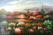 "Oil Painting on Stretched Canvas- ""View of the Road From Garden""- 24x36"""