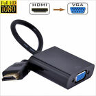 New HDMI Male to VGA Female Video Converter Adapter 1080P Cable Cord For PC DVD
