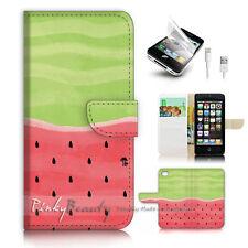 iPhone 5 5S Flip Wallet Case Cover! P2131 Watermelon