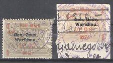 Germany occupation Poland revenues Gen. Gouv. Warschau Gebührenmarken