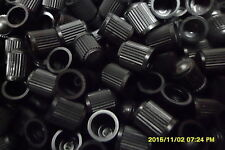 100 x Black Plastic Replacement Dust Caps + 100 Black Cable Ties 100mm 2.5mm
