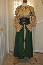 PYRAMID COLLECTION~TAVERN WENCH ENSEMBLE~2 PC~CHEMISE/DRESS & CINCHER~SMALL~NWOT