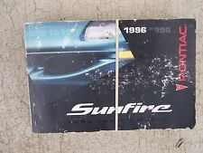1996 Pontiac Sunfire Auto Owner Manual GM Maintenance Driving Service Care R