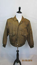 Vintage Leather Warehouse Mens Tan Leather Jacket sz 48
