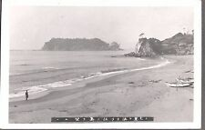 VINTAGE PHOTOGRAPH 1920'S TOKYO JAPAN OCEAN ISLAND VIEW FISHING BOATS OLD PHOTO