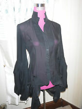 Amazing  Rare All Saints Jest Silk (Katerina) Blouse Shirt Black Size 8 BNWOT