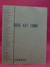 RENÉ-GUY CADOU - L'HERNE - 1er cahier - 1961