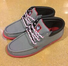 DVS Hunt Grey Gunny Size 10 BMX DC Skate Deck Boat Shoes $78 Box Price