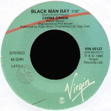 CHINA CRISIS - Black Man Ray / Animalistic - 1985 Virgin Ita - VIN 45137