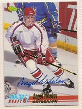 Angel Nikolov Signed autographed Hockey Card