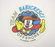 ADESIVO anni '80 / Old Sticker DISNEY TOPOLINO Mickey Mouse Offshore (cm 11)