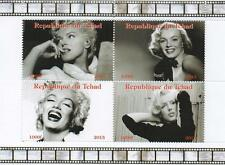 MARILYN MONROE 2013 REPUBLIQUE DU TCHAD MNH STAMP SHEETLET