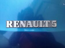FREGIO STEMMA LOGO ANT.oPOST  ORIGINALE RENAULT 5  1-2* SERIE