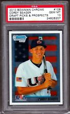 Corey Seager 2010 Bowman Chrome USA #108 Rookie Card rC PSA 10 Gem Mint QTY