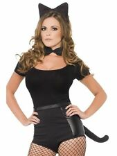 #SEXY LADY BLACK CAT Set Per Halloween Fancy Dress Party adulto (solo il set)