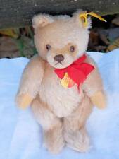 OLD STEIFF BEAR WITH BUTTON IN EAR, STOCK LABEL, CHEST TAG 1968-1975