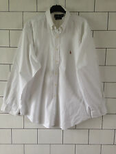 URBAN VINTAGE RETRO LONG SLEEVED WHITE RALPH LAUREN CASUAL SHIRT #43