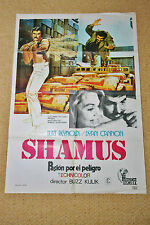 SHAMUS Original Movie Poster BURT REYNOLDS DYAN CANNON BUZZ KULIK JOE SANTOS