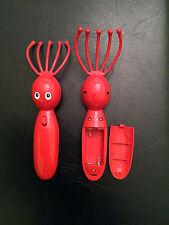 Red Octopus Massager For Head, Face, and Neck