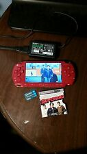 Red God of War Edition Sony PSP w/ Charger Memory Card **READ DESCRIPTION**