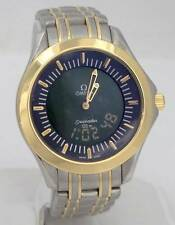 OMEGA SEA MASTER 18K YELLOW GOLD STAINLESS STEEL MULTI FUNCTION DIGITAL WATCH