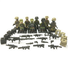 Custom camouflage us marines army men soldiers soldats 8 minifigures & Lego briques