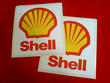 Shell Antigua Estilo Retro Vintage Motorsport Race Car Stickers Calcomanías 2 De 110 Mm