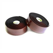 VELO Road Bike Handlebar Wrap Tape with Plugs - Holes + Brown