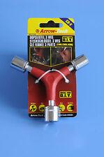 3 Weg Steckschlüssel 11-13-14 mm in Einem Dreiarm Sechskantschlüssel Kfz Nüsse